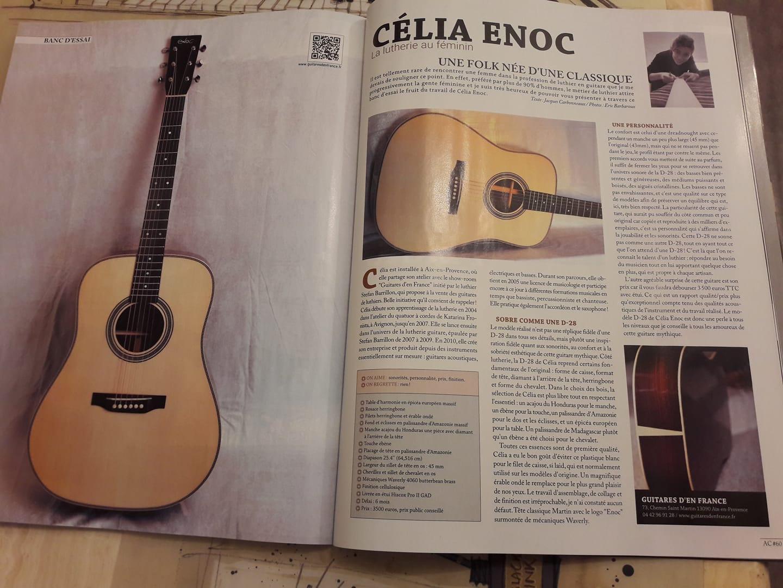 Article de Guitarist Acoustic Janvier 2018